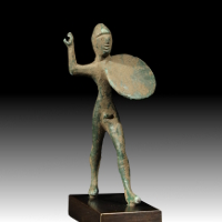 An Umbrian Bronze Statuette of a Warrior