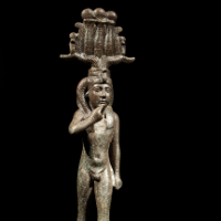 A Bronze Statuette of the God Harpokrates