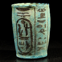 An Egyptian Faience Offering Cup for Ramesses III