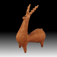 An Amlash Terracotta Rhyton in the Form of a Stag