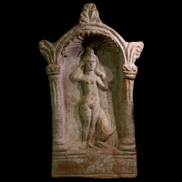 A Terracotta Stela Showing Venus Anadyomene