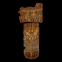 A Set of Egyptian Cartonnage Mummy Trappings
