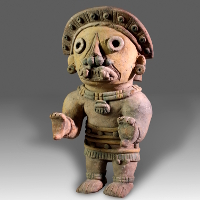 A Jama-Coaque Polychrome Figure