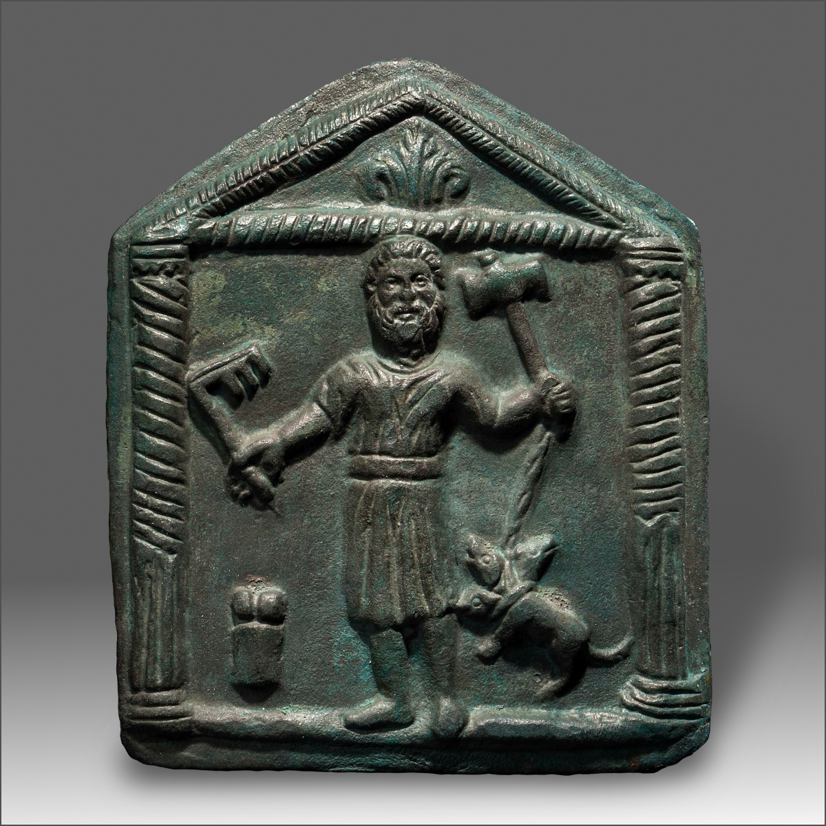 Alexander Ancient Art A Bronze Votive Plaque Showing Hades Pluto