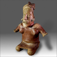 A Large Jalisco Female Figure