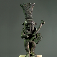 A Bronze Statuette of the God Bes Playing the Kithara