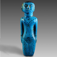 An Egyptian Middle Kingdom Faience Fertility Figurine