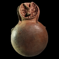 A Viru / Gallinazo Vessel in the Shape of an Owl