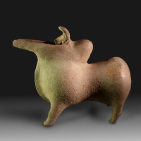An Amlash Vessel in the Form of a Zebu Bull