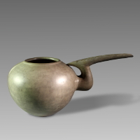 An Amlash Grey Ware Spouted Vessel