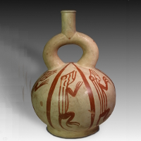 A Moche Vessel Decorated with Lizards