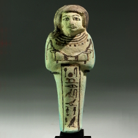 An Egyptian Faience Shabti for Hori