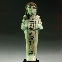 An Egyptian Faience Shabti for Iyry