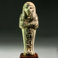 An Egyptian Faience Shabti for Huy