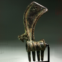 A Luristan Bronze Axe Head with Ibex