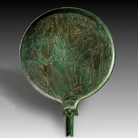 An Etruscan Bronze Mirror
