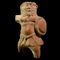 A Terracotta Statuette of the God Bes as a Soldier