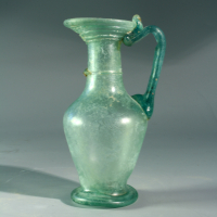A Roman Glass Juglet with Trailing