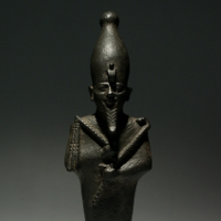 A Bronze Statuette of the God Osiris