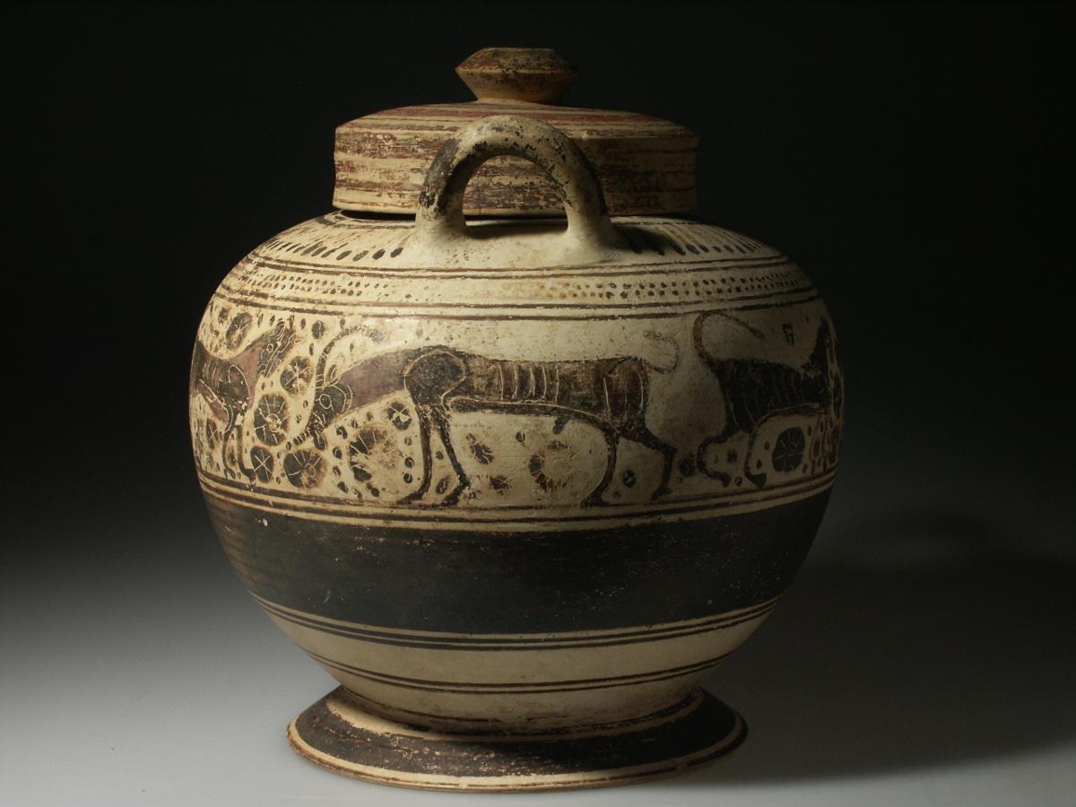 Alexander Ancient Art A Corinthian Lidded Pyxis