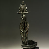 A Bronze Statuette of Atum as a Cobra