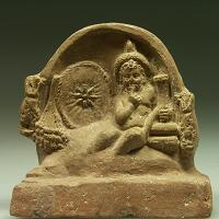 A Terracotta Relief Scene with Horus as a Child