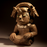 A Spectacular Moche I Warrior Stirrup Vessel
