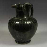 A South Italian Blackware Trefoil Oinochoe