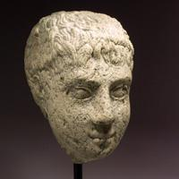 A Roman Egyptian Limestone Head
