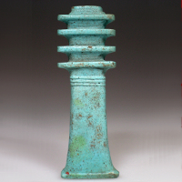 A Very Large Blue Glazed Djed Pillar