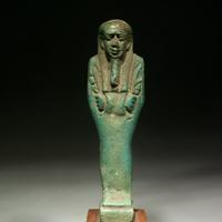 A Green Glazed Shabti