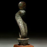 An Egyptian Bronze Cobra