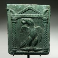 A Roman Bronze Plaque with an Eagle