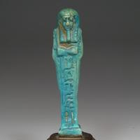 A Turquoise-Blue Shabti