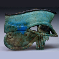 A Huge Faience Wedjat Eye