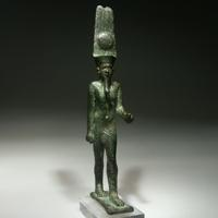 A Bronze Statuette of the God Amon