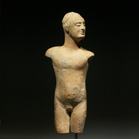 A Very Rare Greek Terracotta Statuette of a Naked Youth – Published !