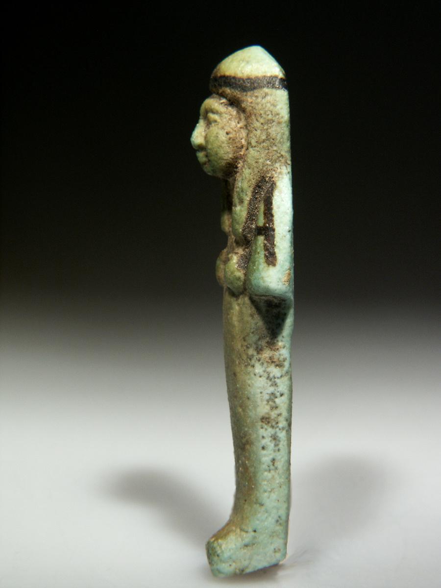 Alexander Ancient Art A Green Glazed Faience Shabti
