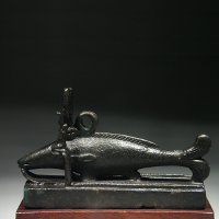 An Egyptian Bronze Statuette of an Oxyrhynchos Fish