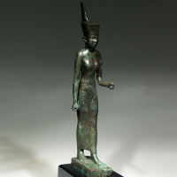 A Bronze Statuette of the Goddess Neith