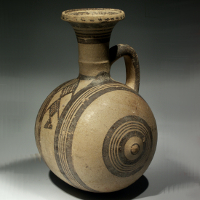A Cypriot Barrel Shaped Jar