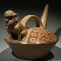 A Salinar Whistling Vessel with a Monkey