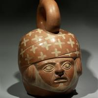 An Early Moche Portrait Head Vessel