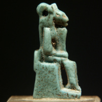 A Glazed Amulet of the Goddess Sekhmet
