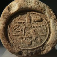 An Egyptian Terracotta Funerary Cone for Imenemipet, Vizier and Mayor of Thebes