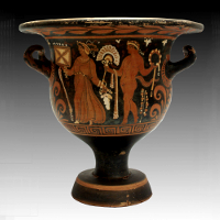 A Red-Figured Bell Krater by the Ganymede Painter