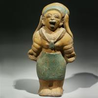 A Jama-Coaque Standing Female Figurine