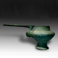 A Large Amlash Bronze Spouted Vessel