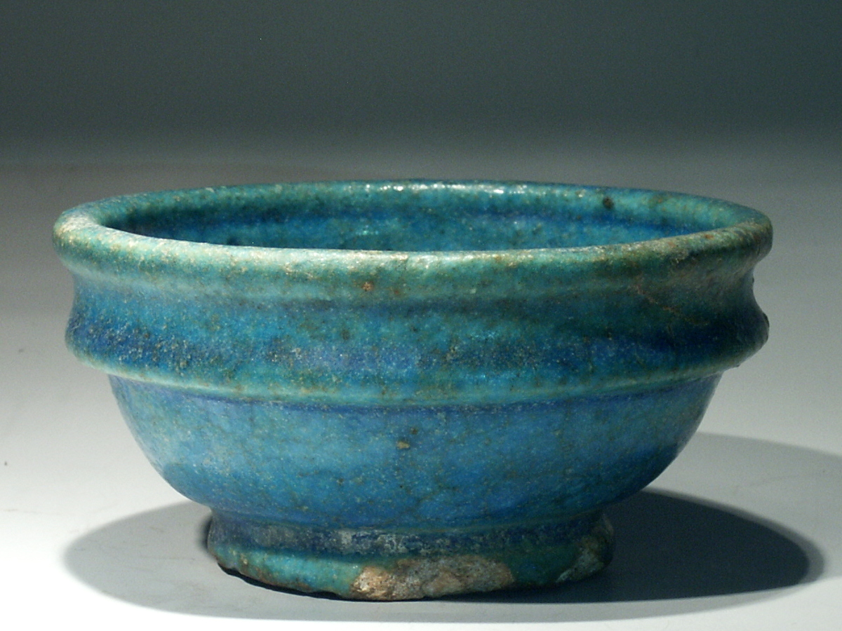 Egyptian Revival Pottery Bowl Planter Painted with ... |Egyption Bowls