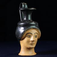 An Attic Oinochoe in the Shape of the Head of a Woman